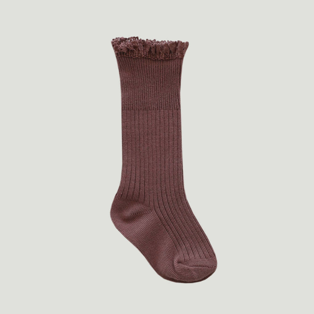 Jamie Kay Frill Socks Antique Rose | Tiny People