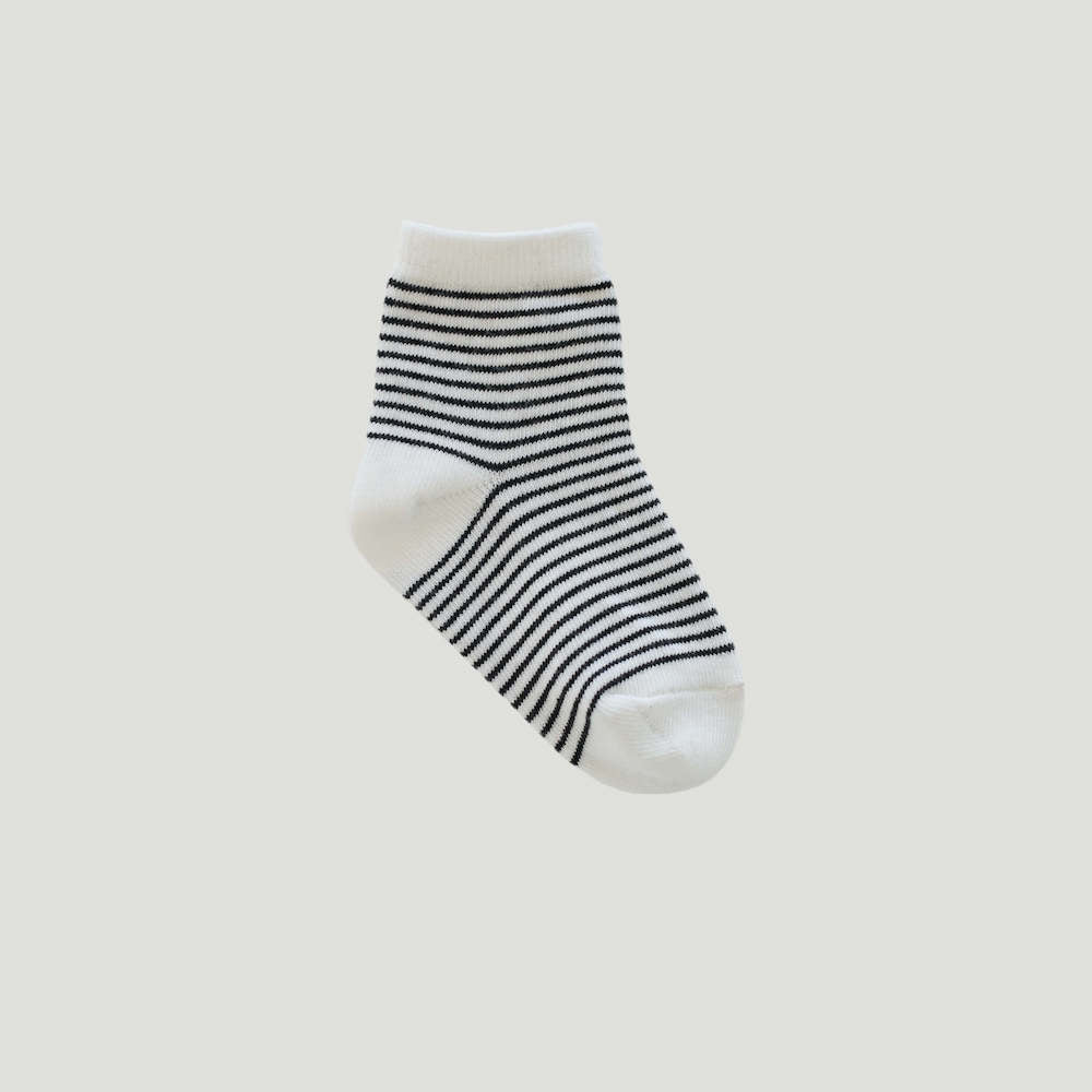 Jamie Kay Stripe Socks Ink / Cloud | Tiny People