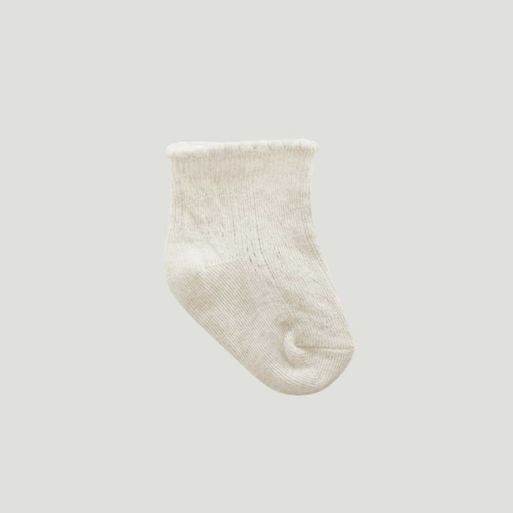 Jamie Kay Tilly Socks Milk | Tiny People