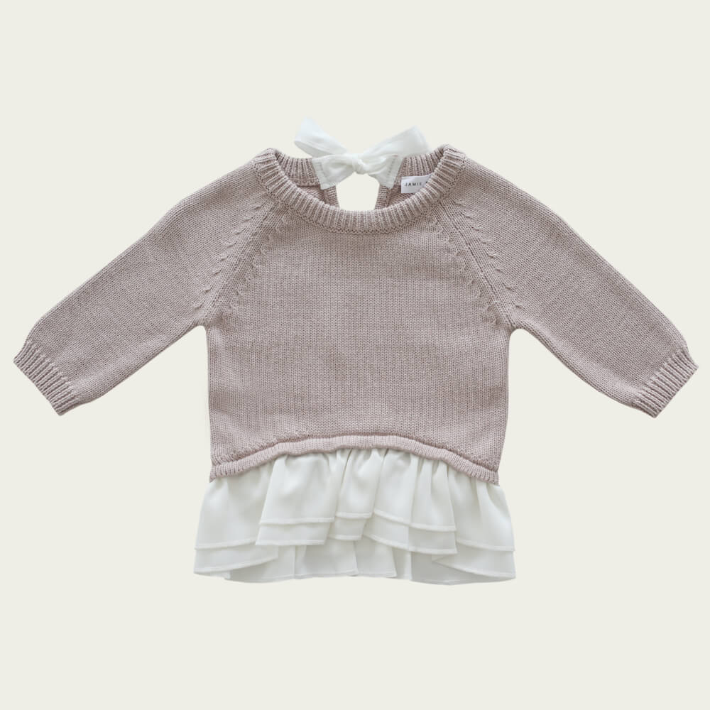 Jamie Kay Frill Knit Rosebud | Tiny People