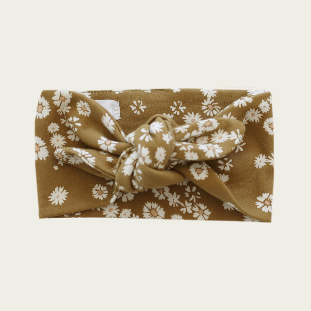 Jamie Kay Organic Cotton Interlock Headband Daisy Floral | Tiny People