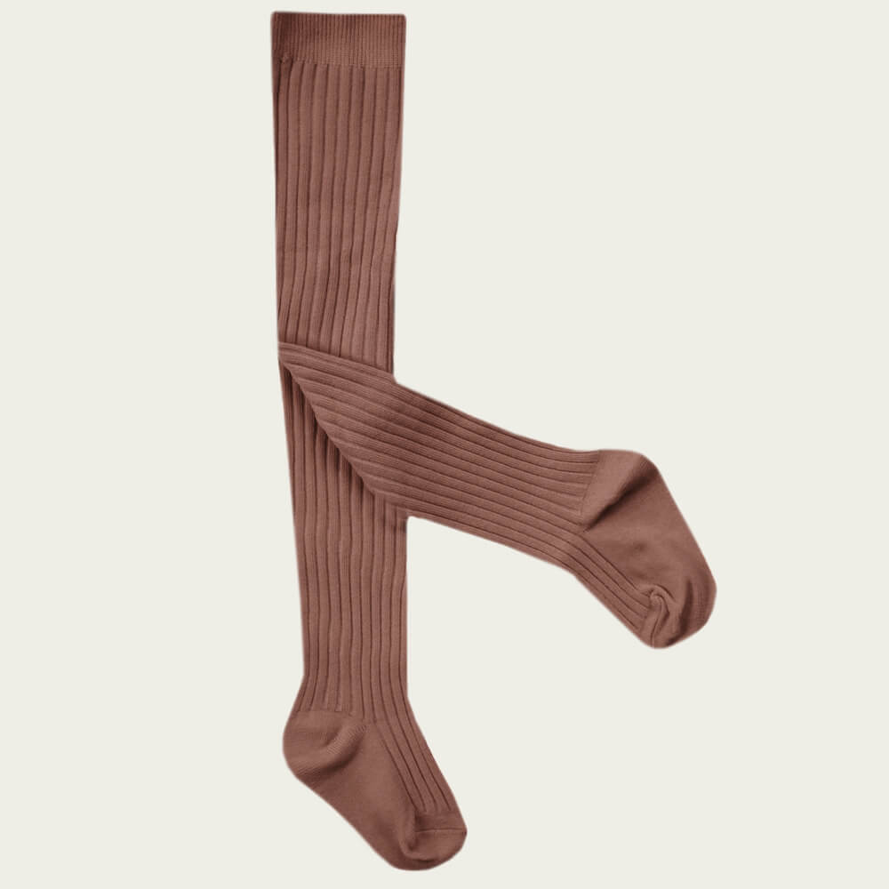 Jamie Kay Ribbed Tights Caramel | Tiny People