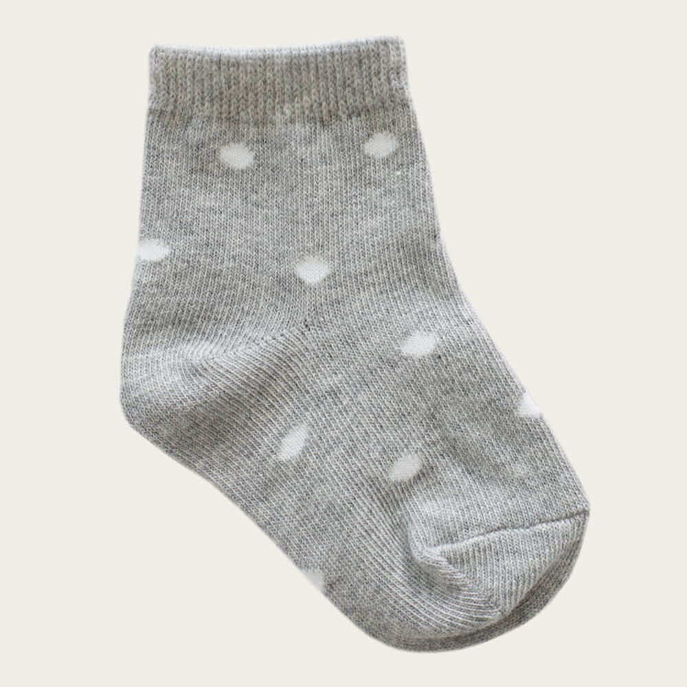 Jamie Kay Dotty Socks Light Grey Marle | Tiny People