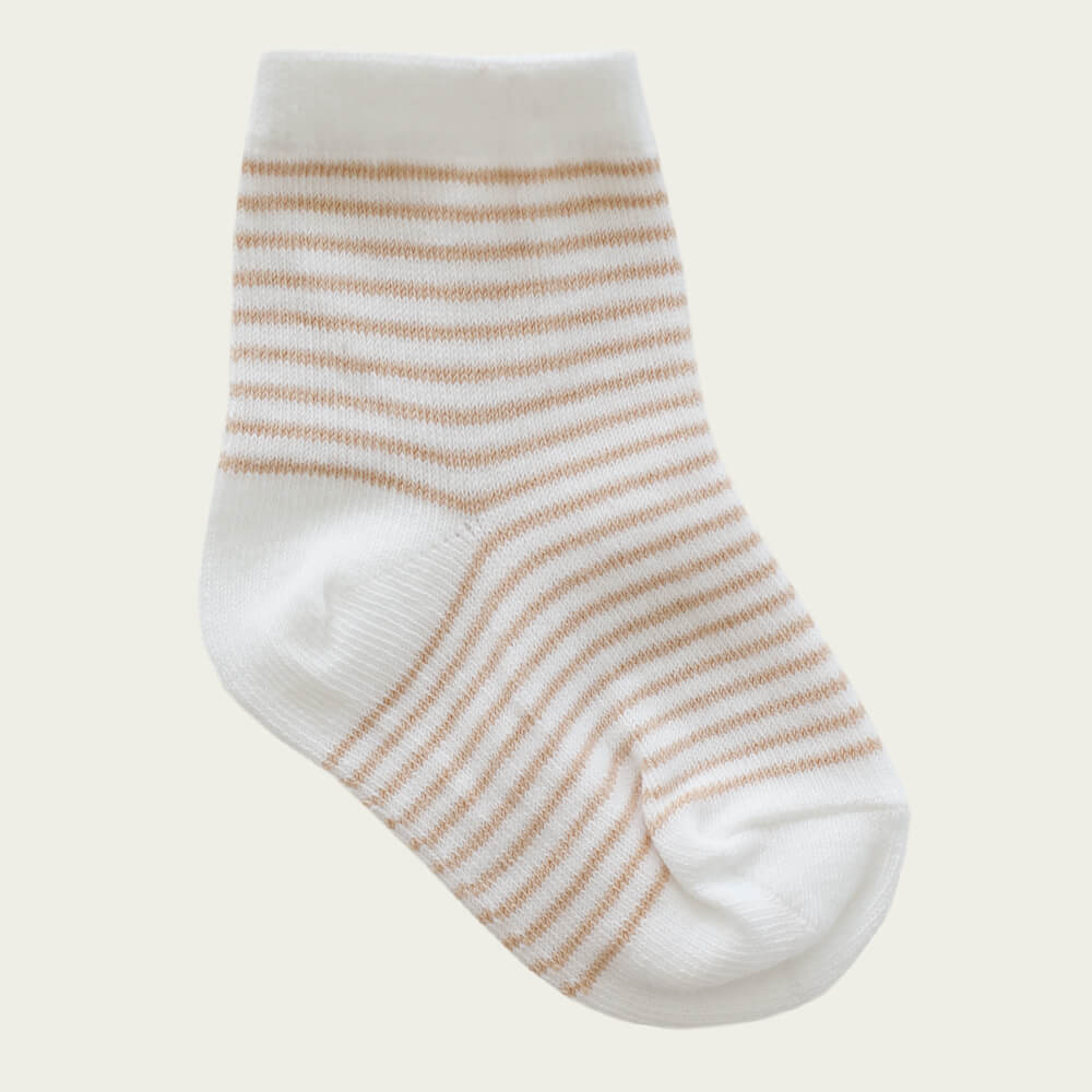 Jamie Kay Stripe Sock Sandy/Cloud | Tiny People