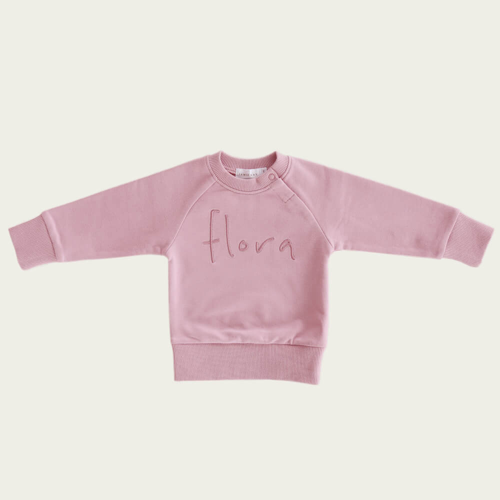 Jamie Kay Flora Sweatshirt Rose | Tiny People