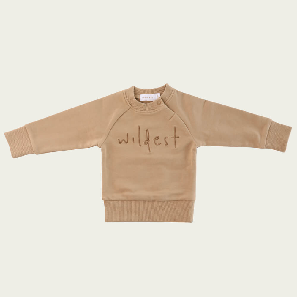 Jamie Kay Wildest Sweatshirt Mocka | Tiny People