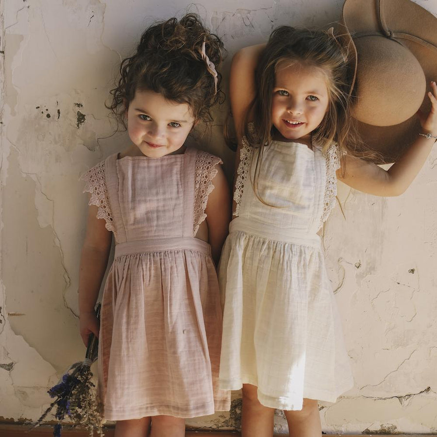 Jamie Kay Amie Dress in Rose Smoke from Meadowlands SS18 at Tiny People Shop Australia.