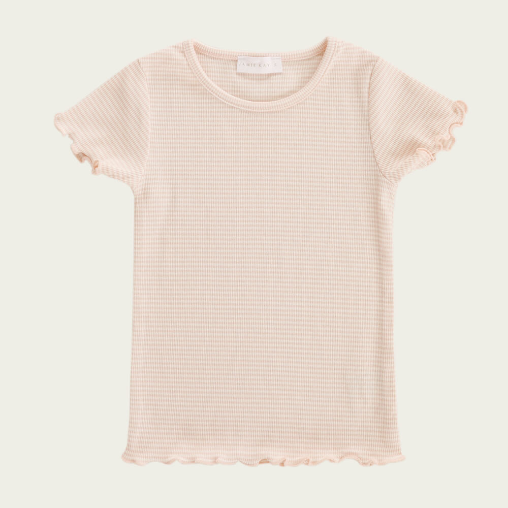 Jamie Kay Lily Tee Peach Stripe | Tiny People