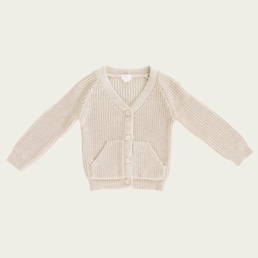 Jamie Kay Noah Cardigan Oatmeal | Tiny People