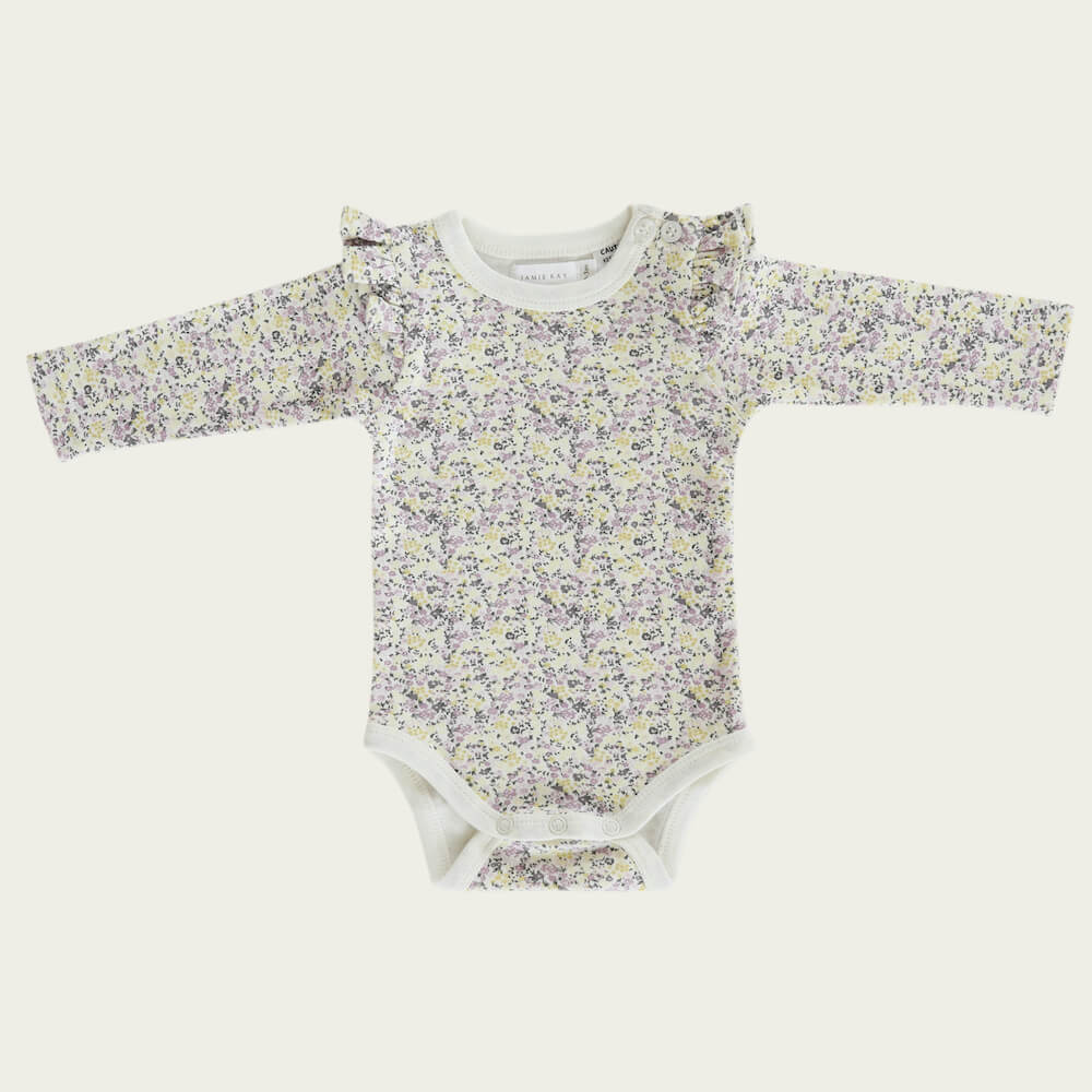 Jamie Kay Frill Bodysuit Summer Floral | Tiny People