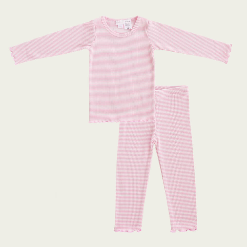 Pyjama Set Bubblegum Stripe