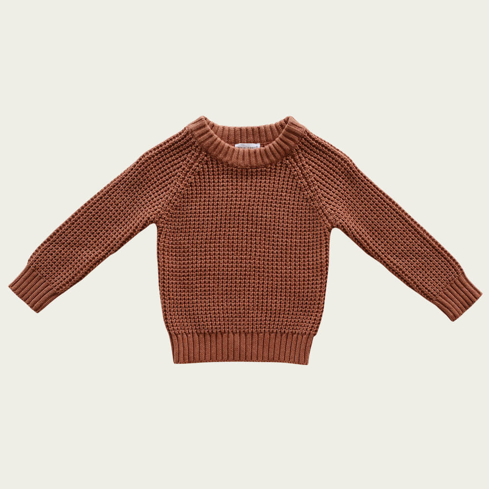 Jamie Kay Barnaby Knit Copper Marle | Tiny People