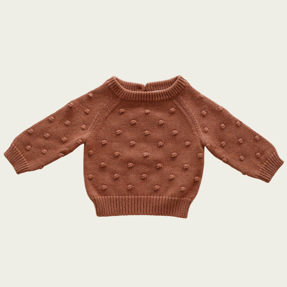Jamie Kay Dotty Knit Copper Marle | Tiny People