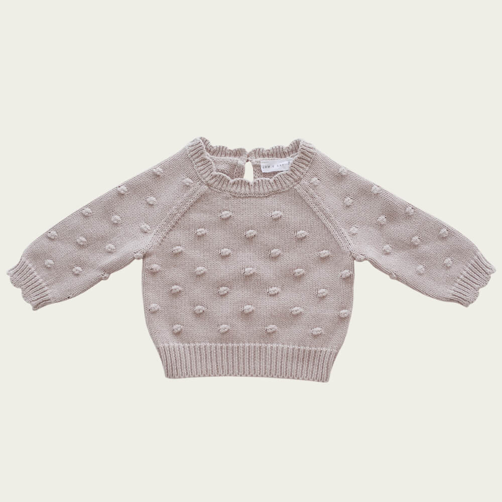 Jamie Kay Dotty Knit Rosebud | Tiny People