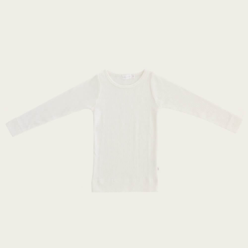 Organic Essential Long Sleeve Top Milk