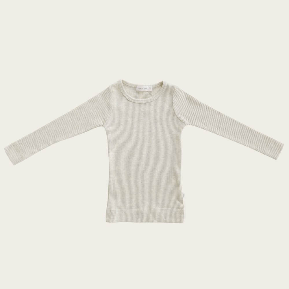 Organic Essential Long Sleeve Top Oatmeal