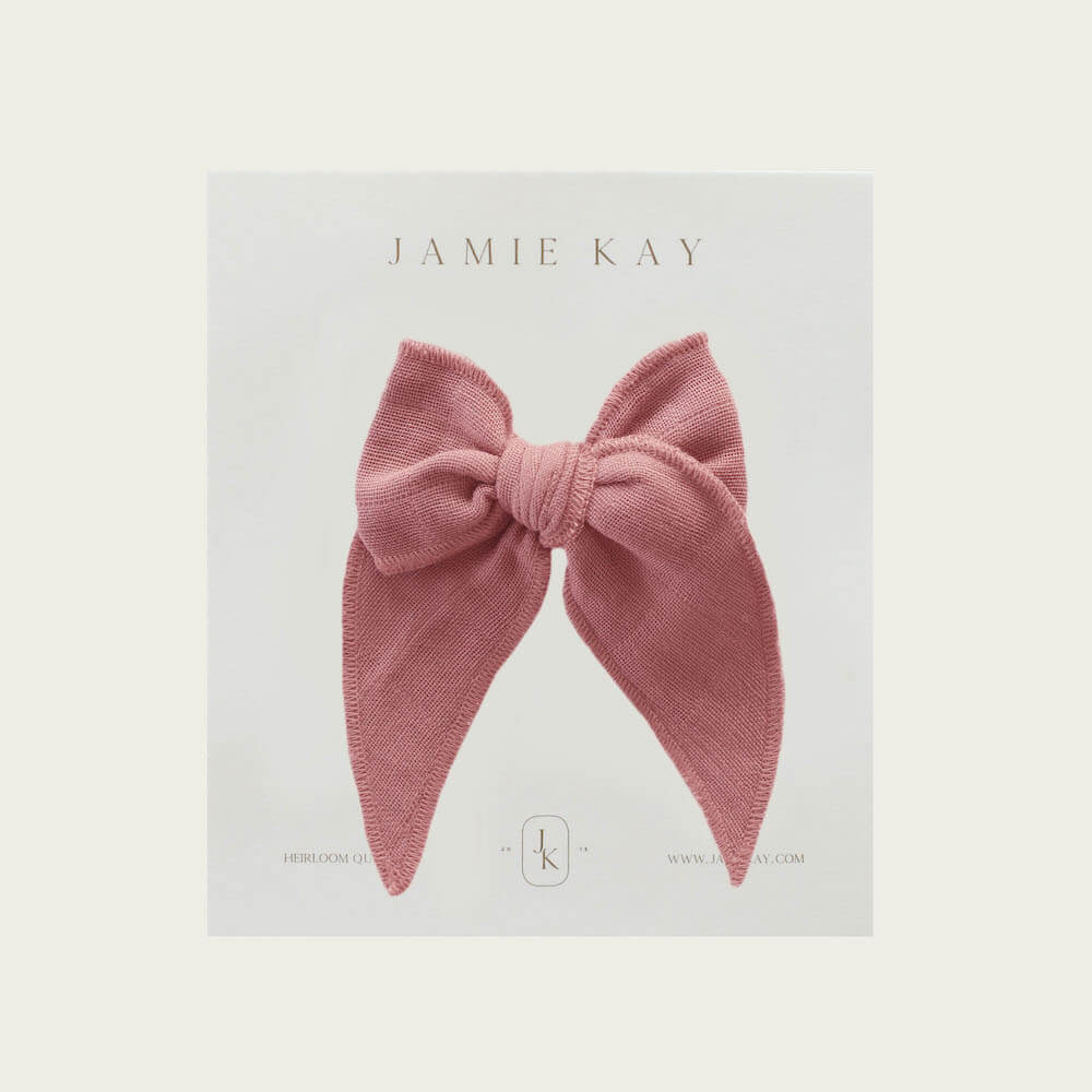 Jamie Kay Organic Cotton Muslin Bow Prague | Tiny People