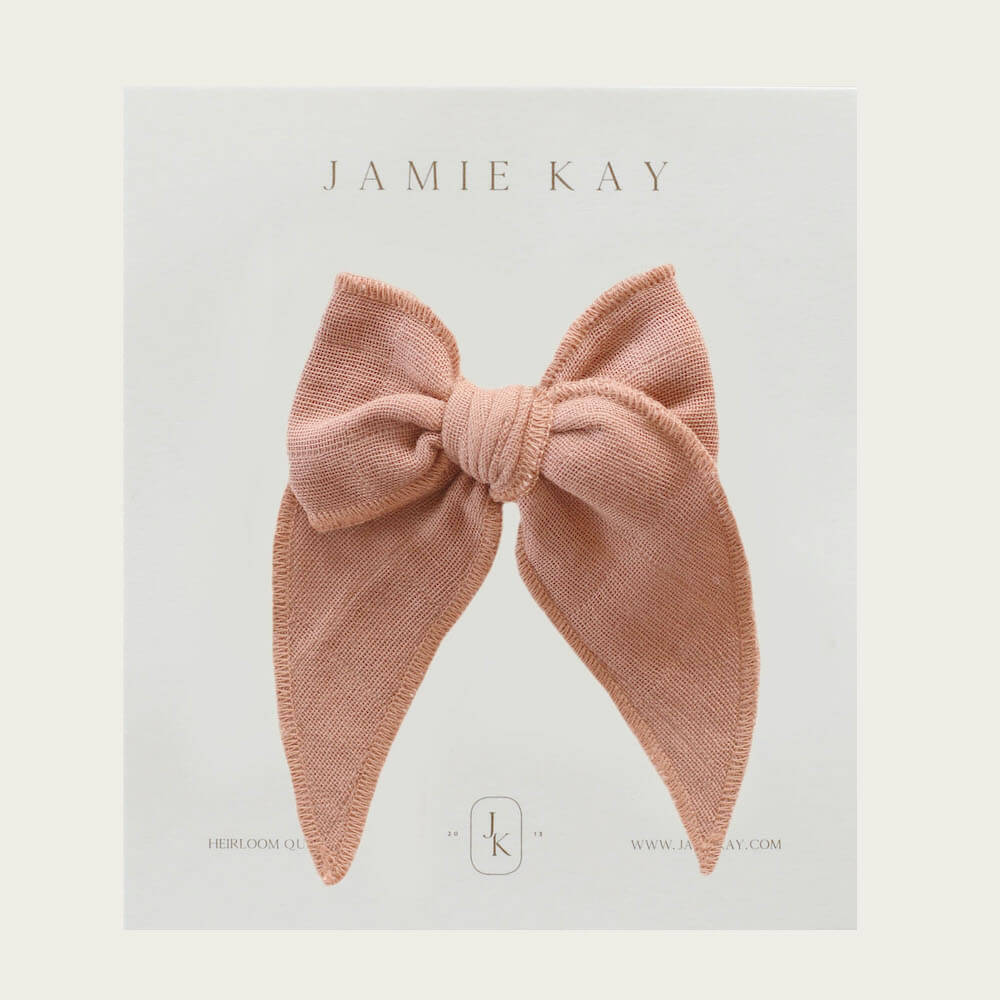 Jamie Kay Organic Cotton Muslin Bow Sunset | Tiny People