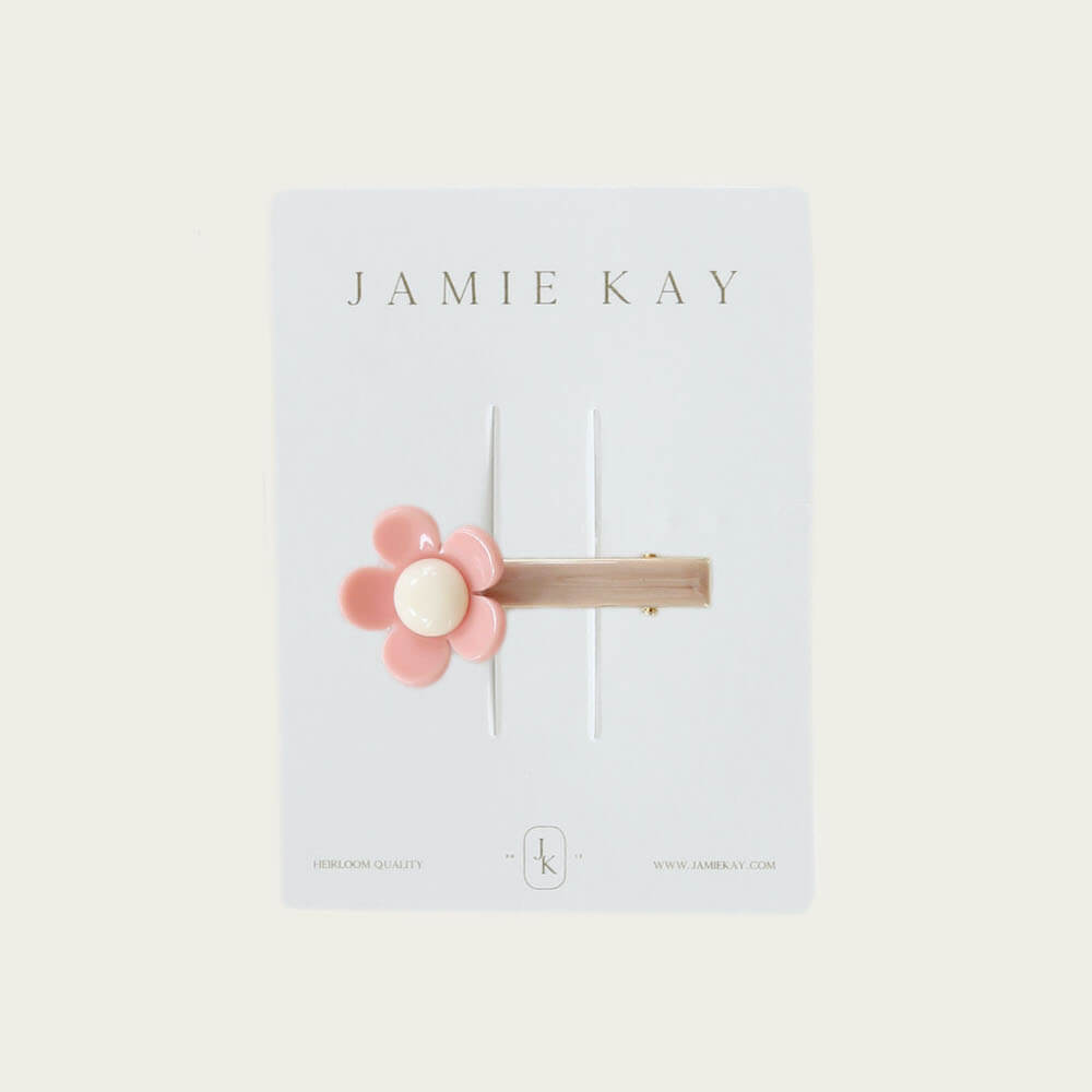 Jamie Kay Flower Clip Bubblegum | Tiny People