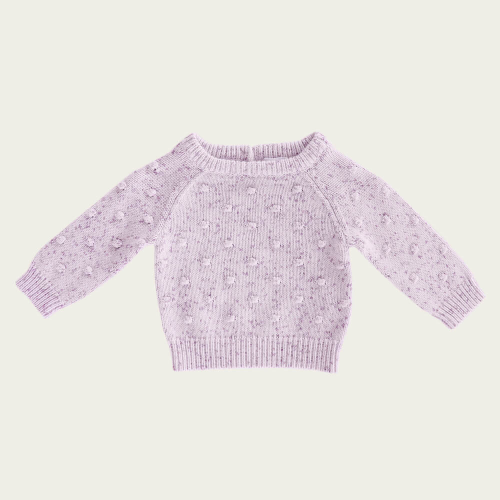 Jamie Kay Dotty Knit Lilac Fleck | Tiny People