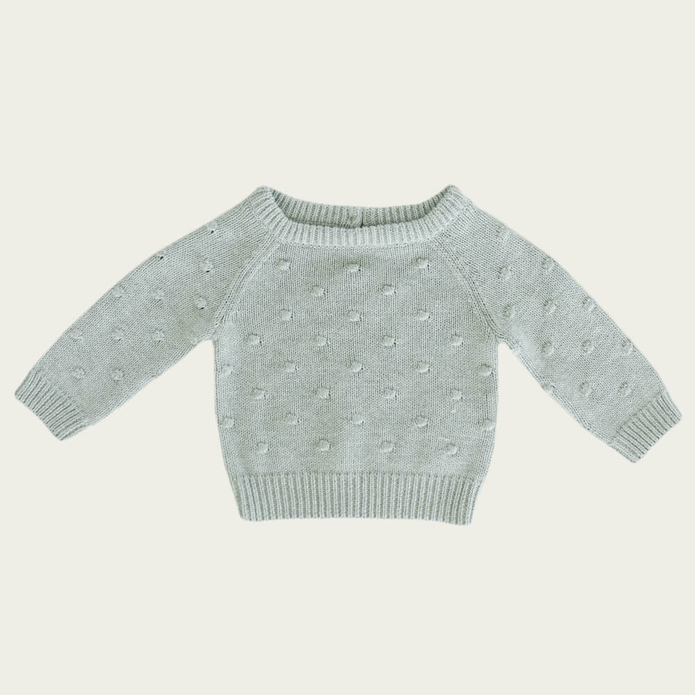 Jamie Kay Dotty Knit Seabreeze | Tiny People