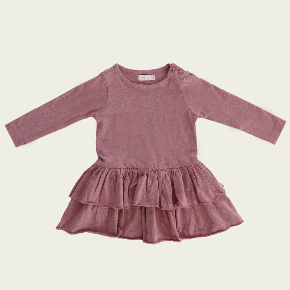 Jamie Kay Echo Dress Berry Fuzz | Tiny People