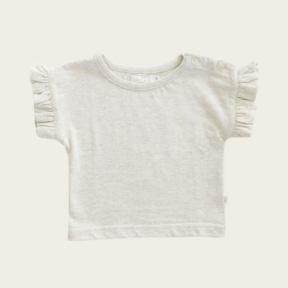 Jamie Kay Fleur Top Linen | Tiny People