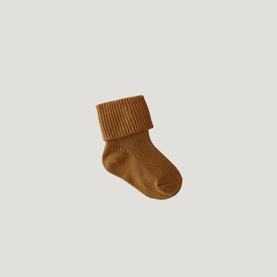 Jamie Kay Rib Socks - Golden - Tiny People Cool Kids Clothes Byron Bay