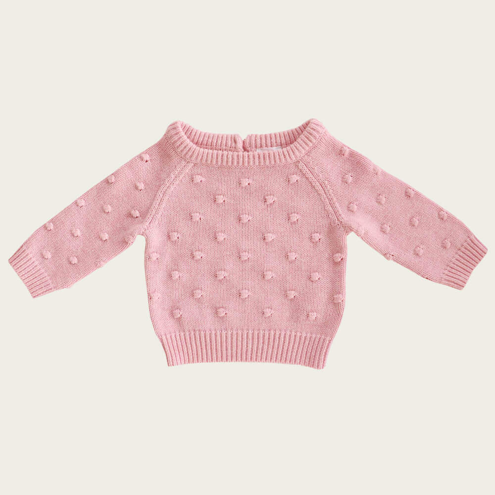 Jamie Kay Dotty Knit Marshmallow Marle | Tiny People