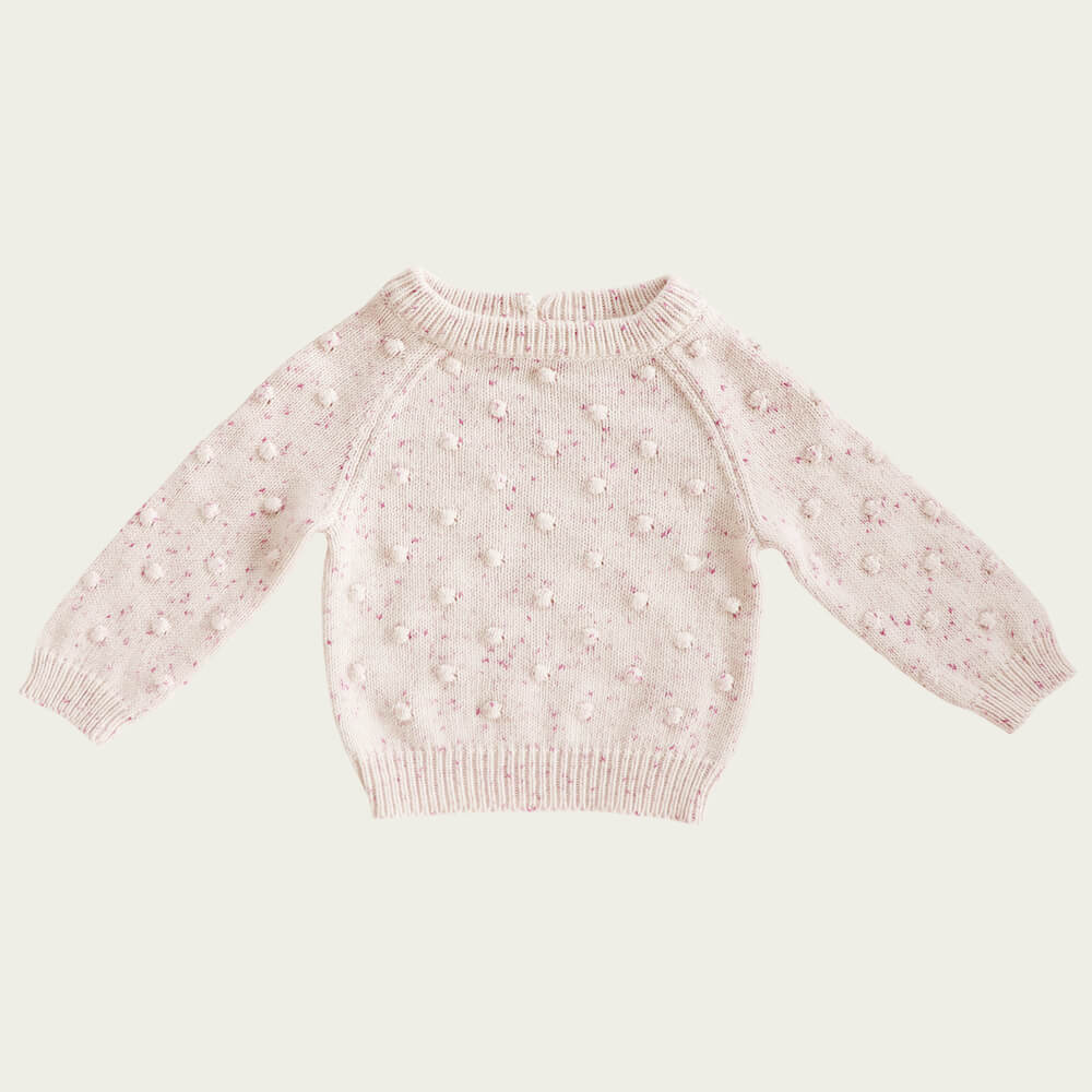 Jamie Kay Dotty Knit Raspberry Fleck | Tiny People