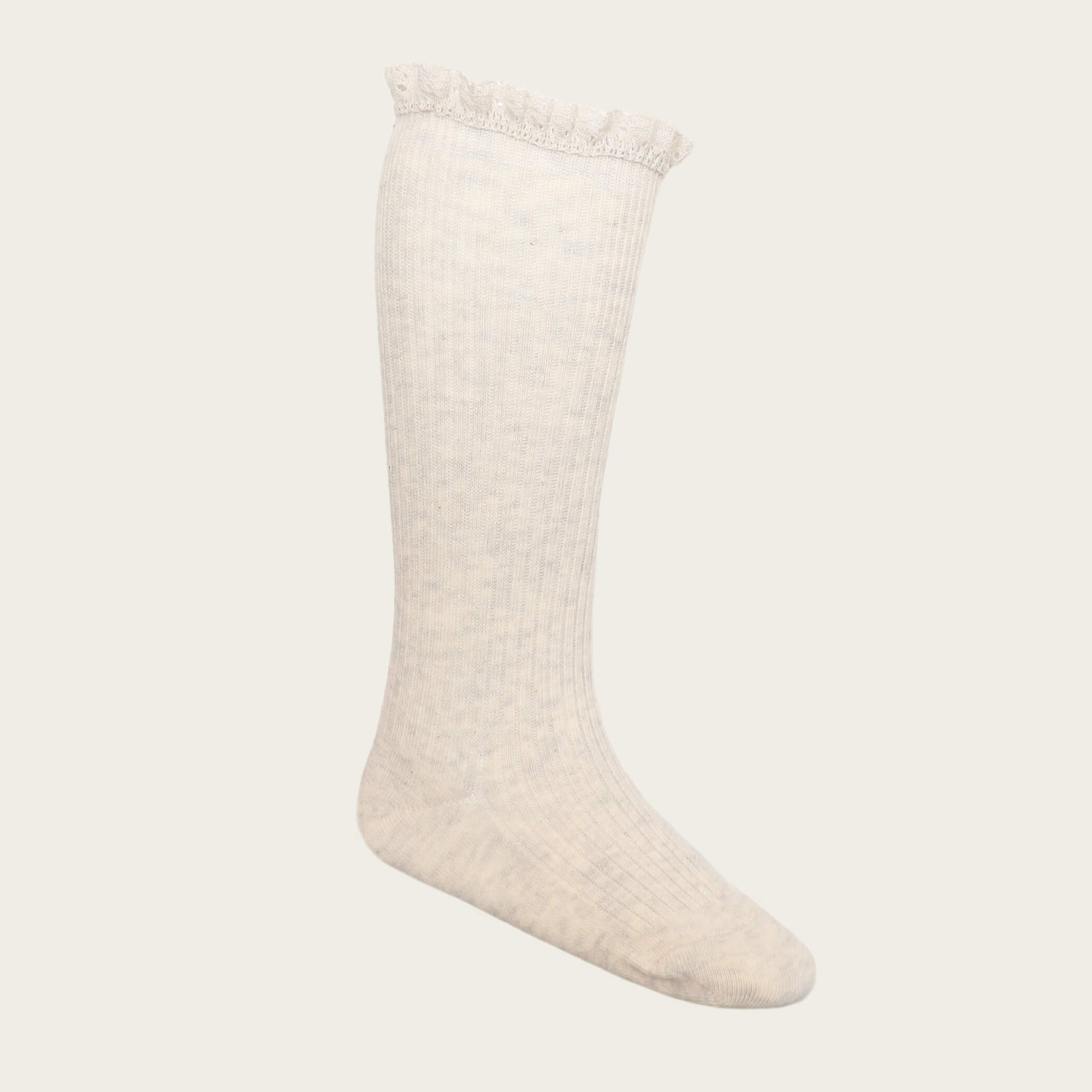 Jamie Kay Frill Sock Oatmeal | Tiny People