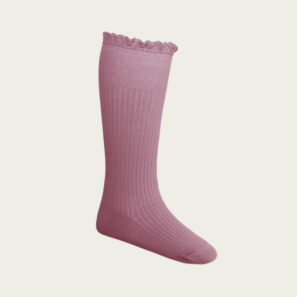 Jamie Kay Frill Sock Plum | Tiny People