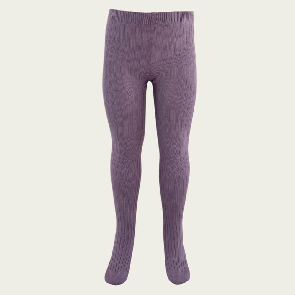 Jamie Kay Ribbed Tights Blueberry | Tiny People