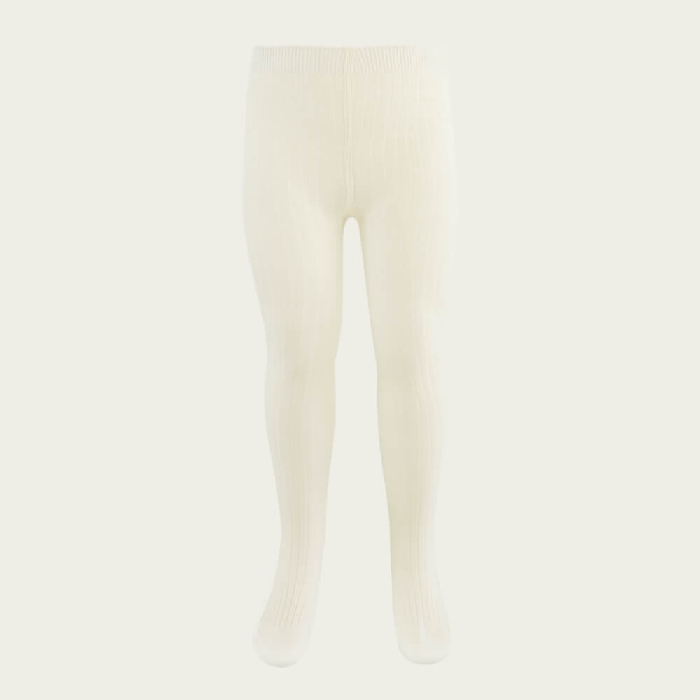 Jamie Kay Ribbed Tights Milk | Tiny People