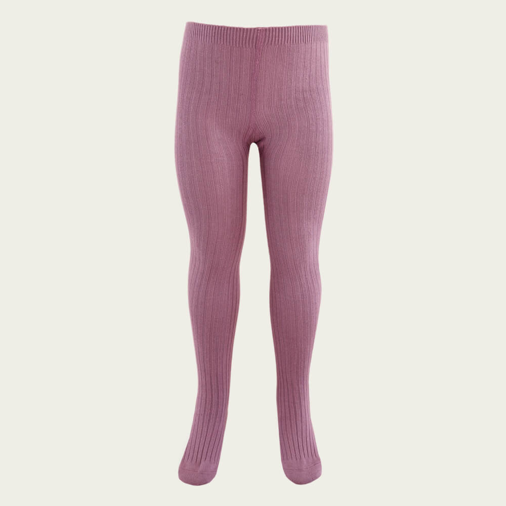 Jamie Kay Ribbed Tights Plum | Tiny People