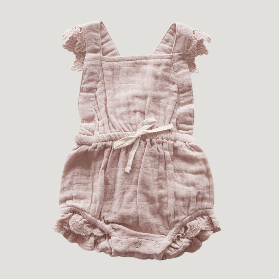 Jamie Kay Lace Indie Playsuit - Rose Smoke - Tiny People Cool Kids Clothes Byron Bay