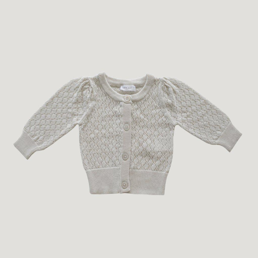 Jamie Kay Lace Cardigan Oatmeal - Tiny People Cool Kids Clothes Byron Bay