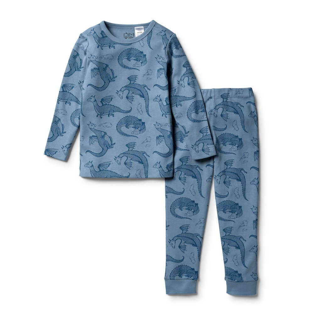 Wilson & Frenchy Little Dragon Long Sleeve Pyjama Set | Tiny People