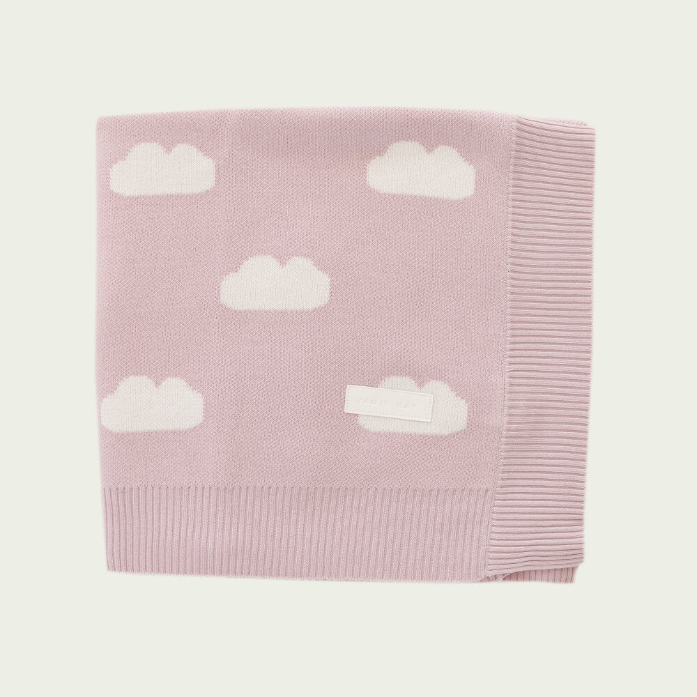Jamie Kay Cloud Cot Blanket Old Rose | Tiny People