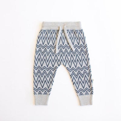 Jujo Baby Zigzag Pant - Navy / Silver - Tiny People Cool Kids Clothes Byron Bay