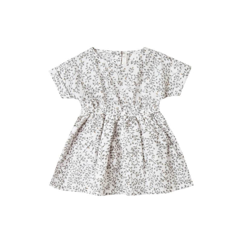 Rylee & Cru Kat Dress Dainty Leaves Dresses - Tiny People Cool Kids Clothes