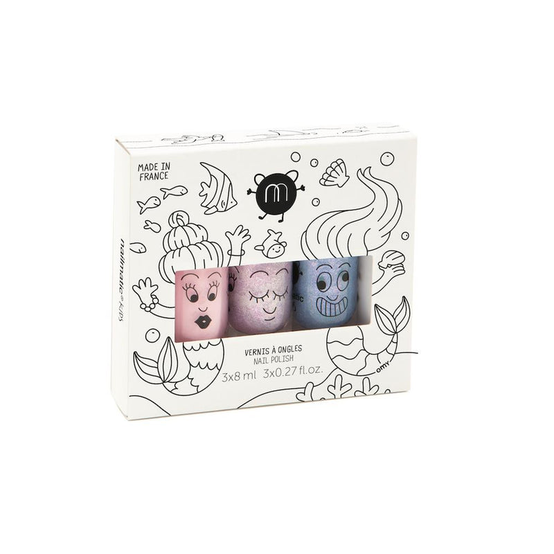 Kids Nail Polish Gift Box: Mermaid (3 Pcs)