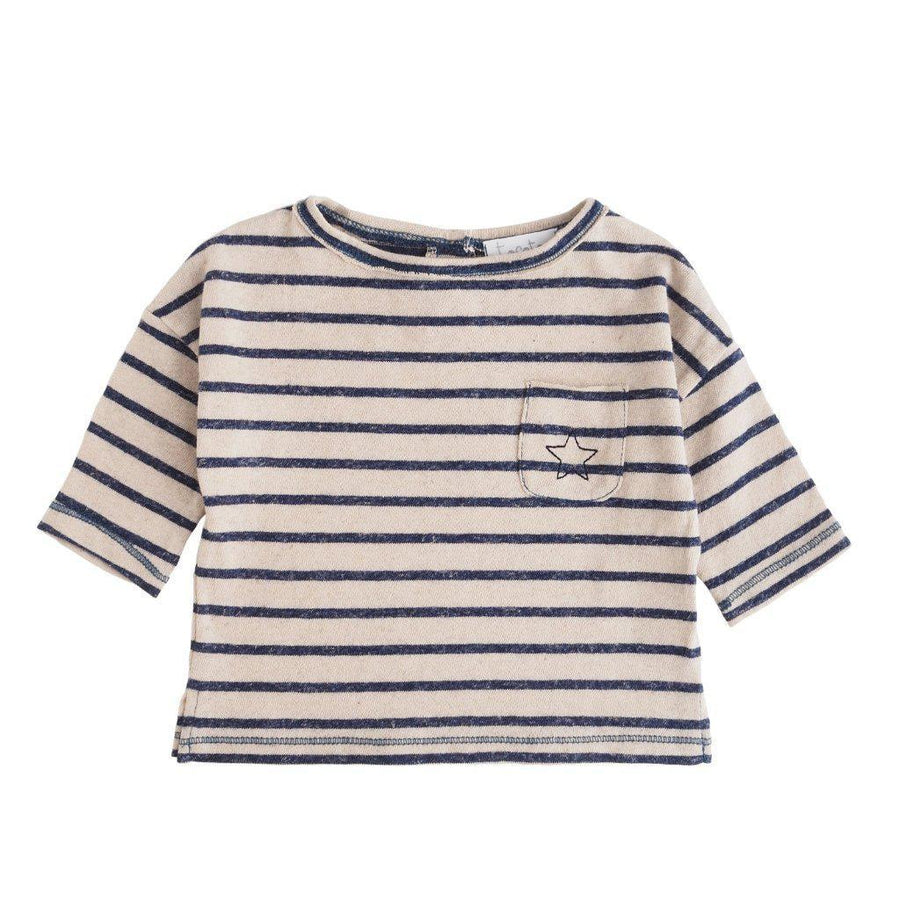 Tocoto Vintage Knitted Striped Long Sleeved T-Shirt - Tiny People Cool Kids Clothes Byron Bay