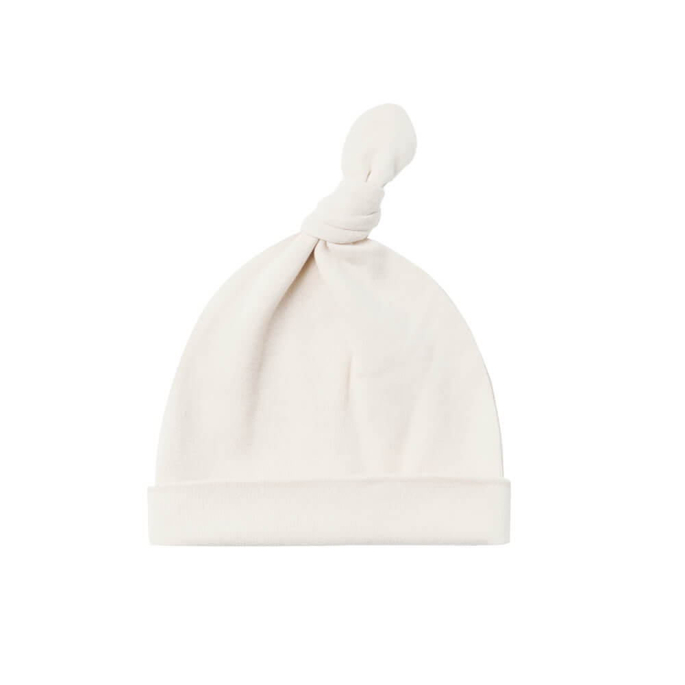 Quincy Mae Knotted Baby Hat Ivory | Tiny People
