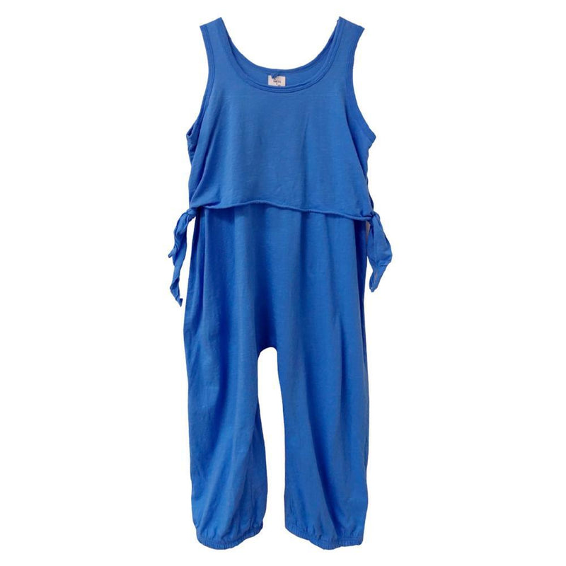 Nico Nico Lia Tie Romper Neon Blue Jumpsuits & Rompers - Tiny People Cool Kids Clothes