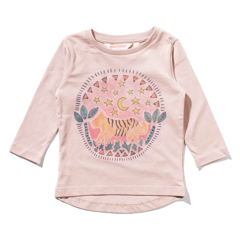 Love Badge LS Tee Dusty Rose | Tiny People