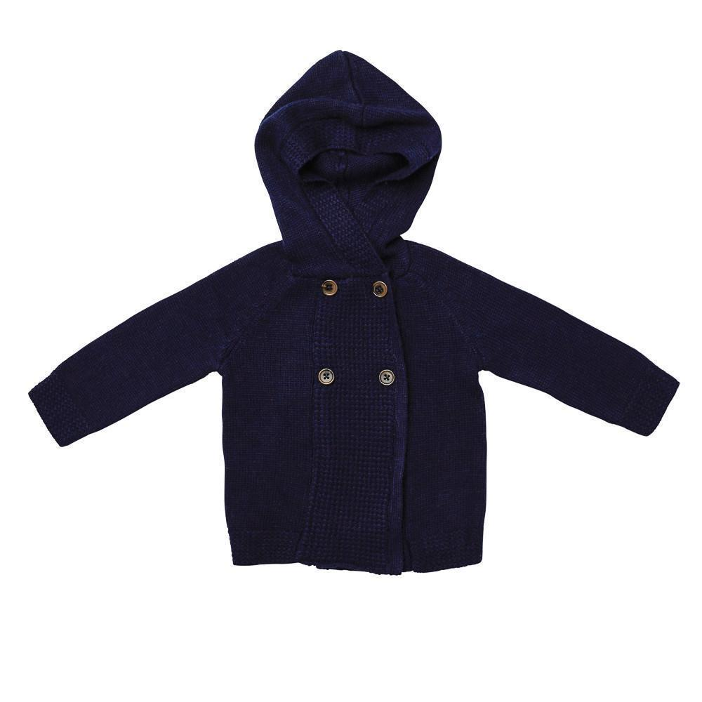 Acorn Kids Lakeside Cardigan Navy Cardigan - Tiny People Cool Kids Clothes