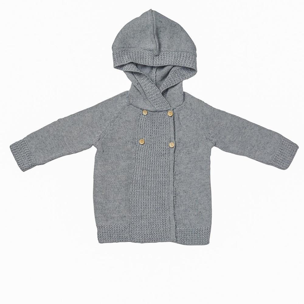 Acorn Kids Lakeside Cardigan Grey Cardigan - Tiny People Cool Kids Clothes