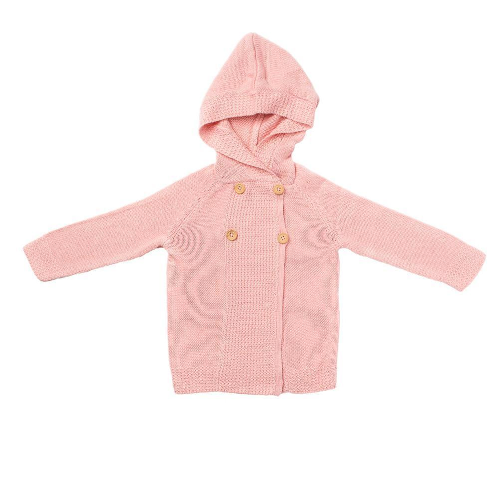 Acorn Kids Lakeside Cardigan Pink Cardigan - Tiny People Cool Kids Clothes