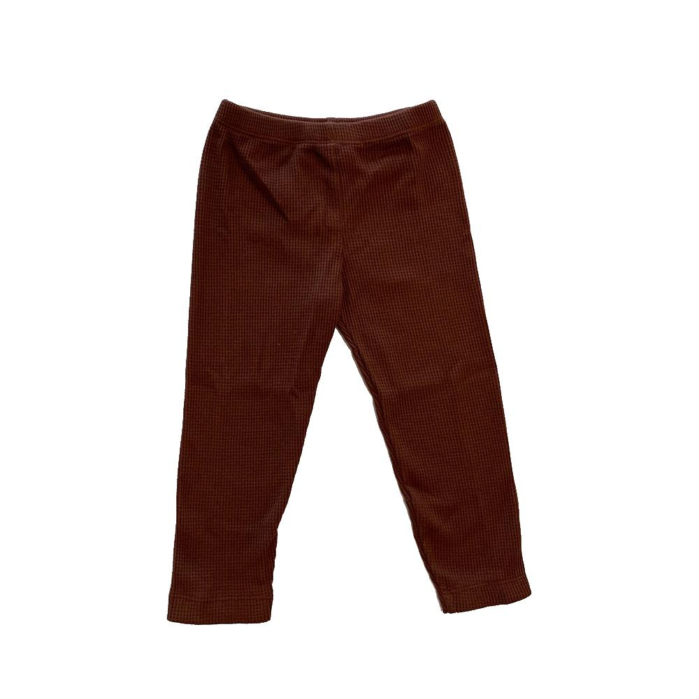 Cotton Waffle Leggings Margaret River Plum